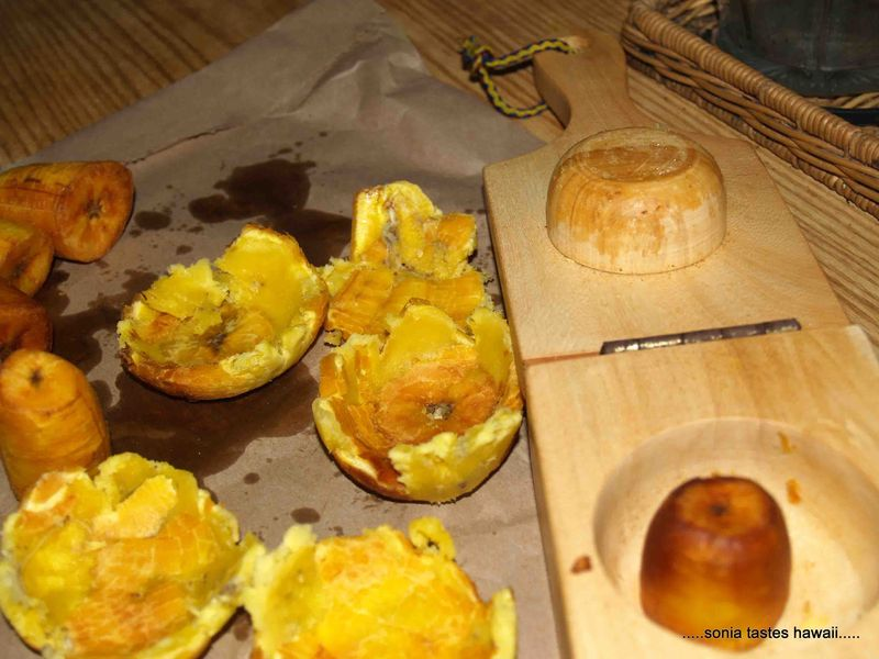 Sonia Tastes Hawaii: Spicy Shrimp Stuffed Tostones - Tostones Rellenos