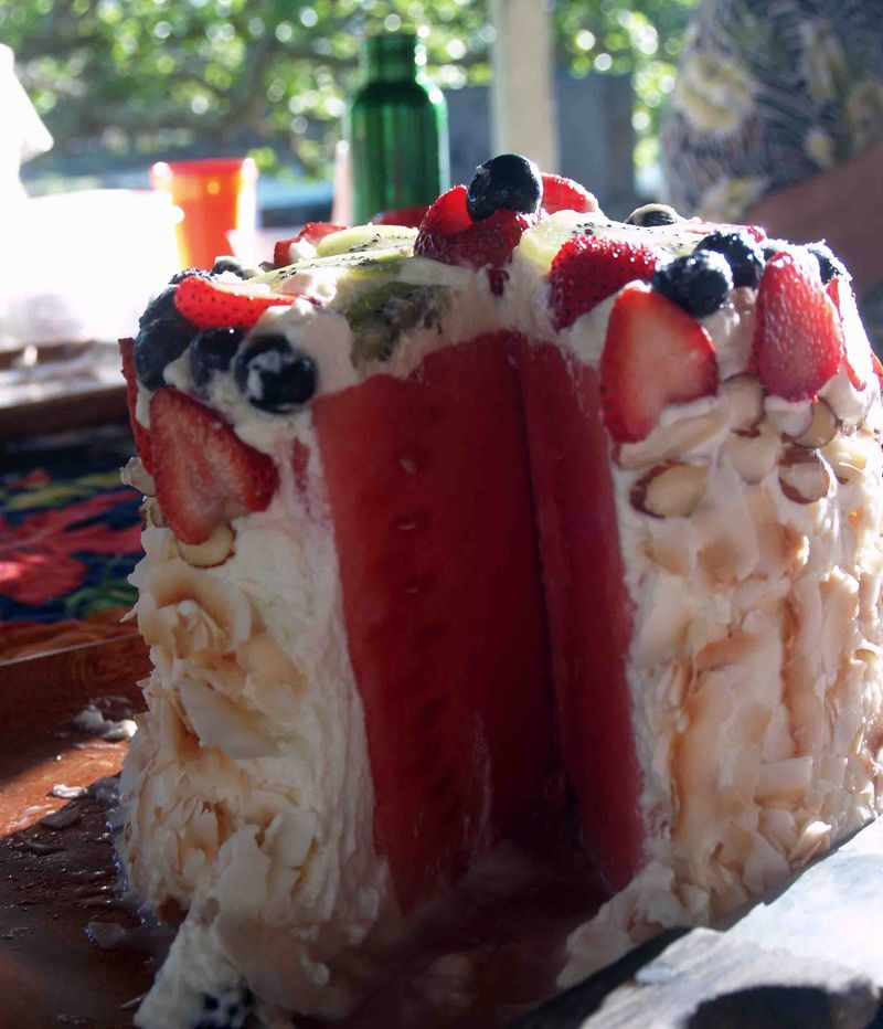 Joe's Picnic - Galyn's watermelon 'cake' 2