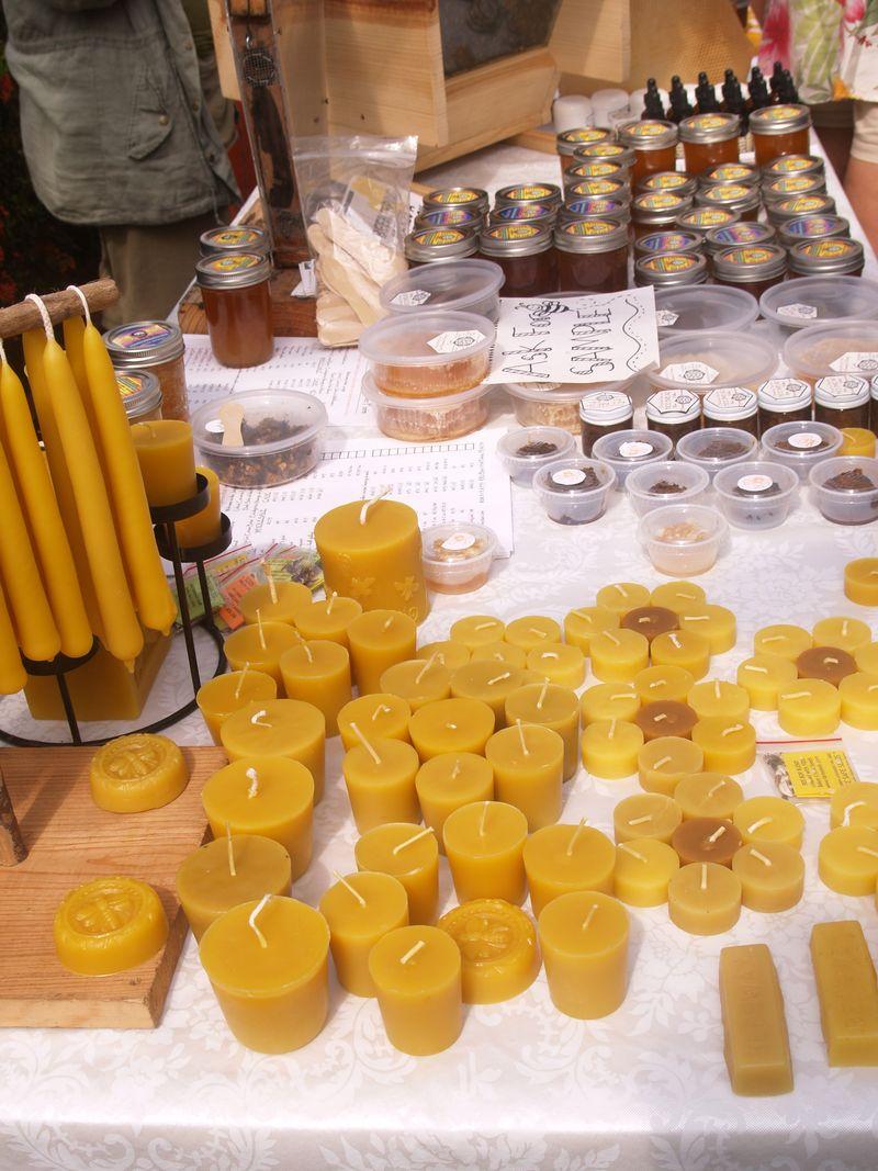 Bee merchandise display