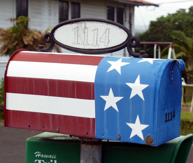 Mail box - flag