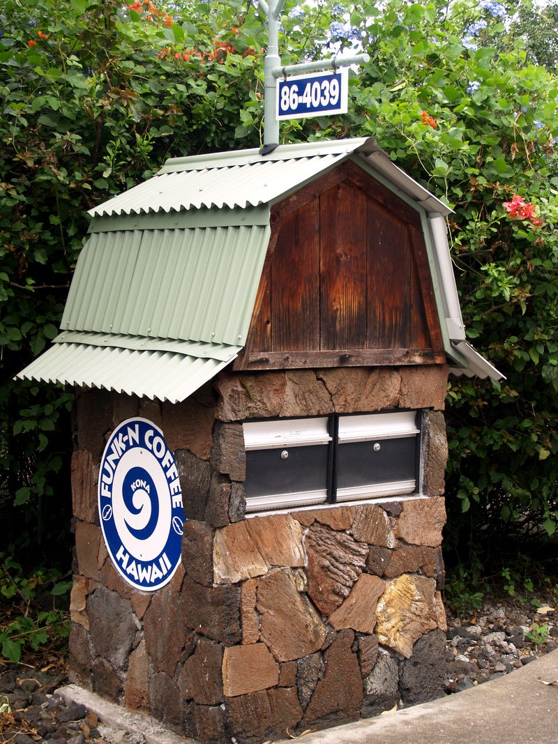 Mailbox - Barn-like mailbox for Funk-n-Coffee Co in S.Kona