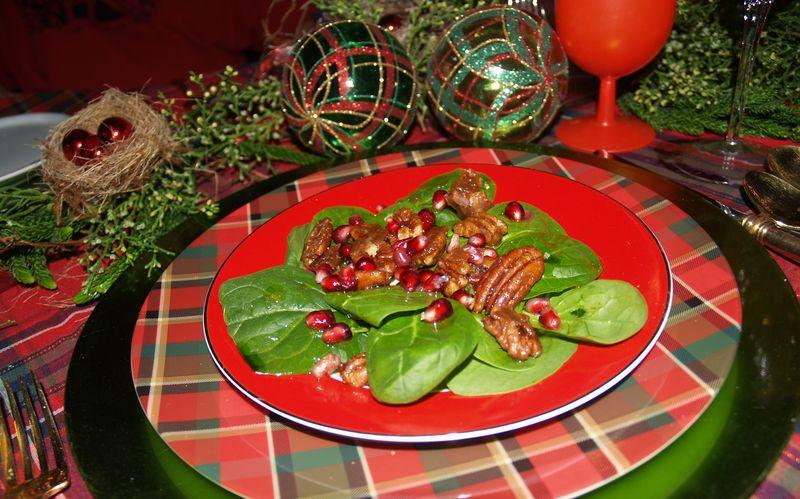 Christmas 2013 - Table detail -salad
