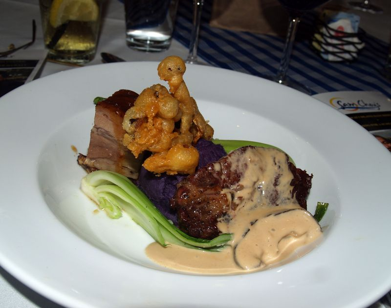 Rancher's Dinner - 9 - Course 4 - b Duo of meats - main entrée