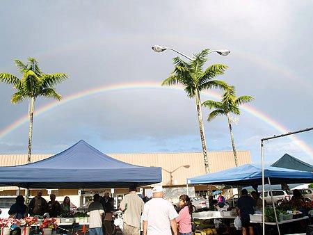 Double rainbow - Kino'ole Market 3-26-11