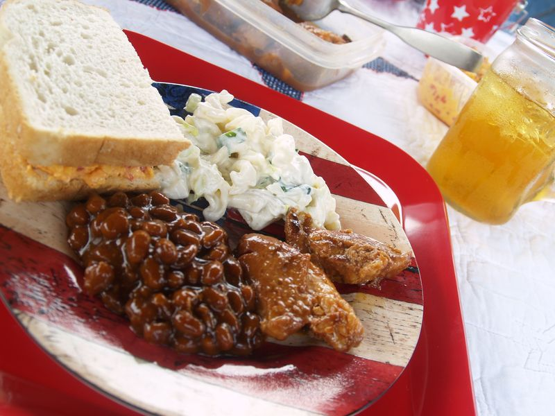 Memorial Day - plate w food