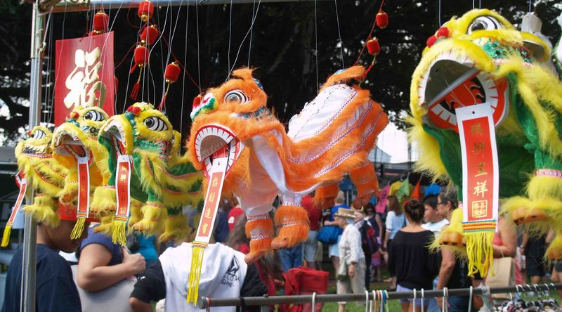 CNY 2014 - Fierce dragon puppets