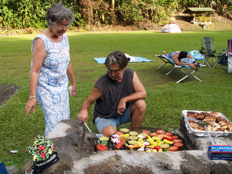 KK - Grilling the veggies