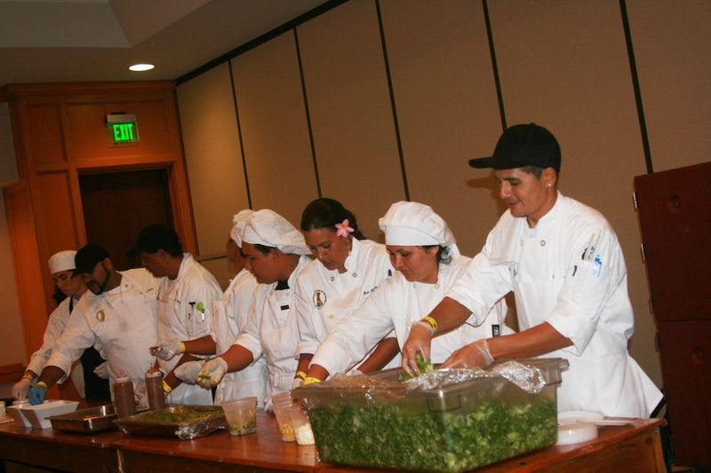 Taste - HCC culinary students - serving Chef Peter's salad