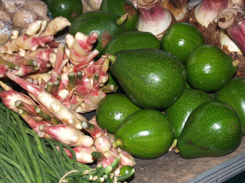 Farmers Market 4 - Avos and young ginger
