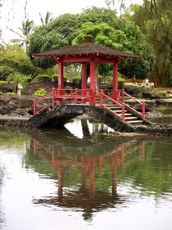 Liliuokalani Gardens - Red pagoda bridge 1