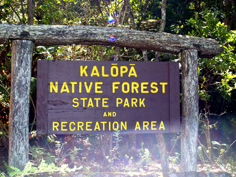 Kalopa - entrance sign