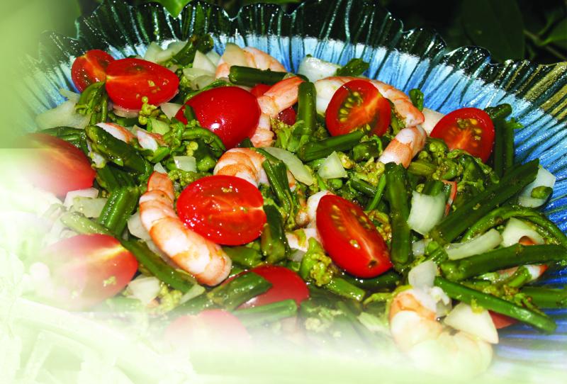 Wasabi & Shrimp salad 1