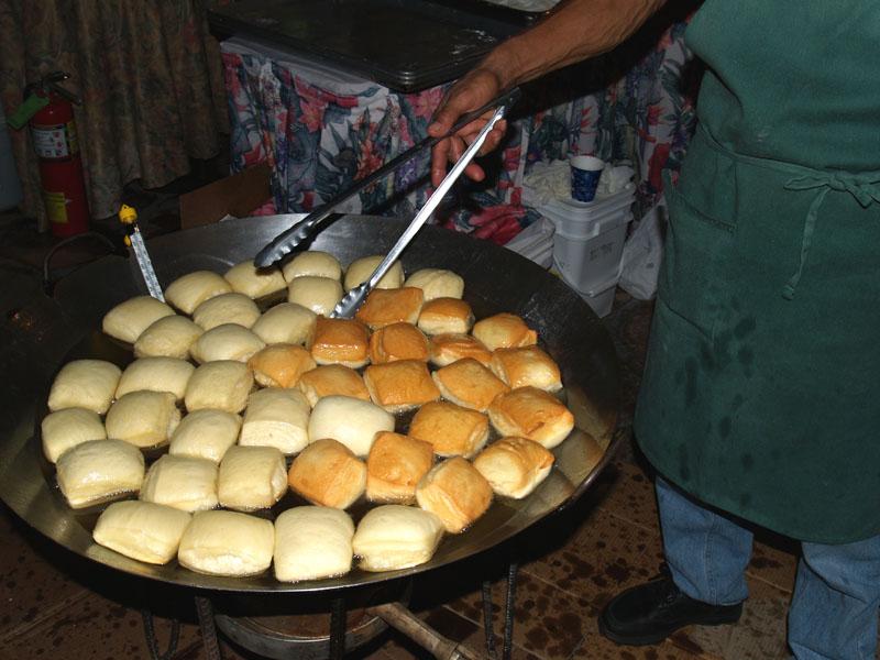 A Taste - Tex's Drive In - frying malasadas