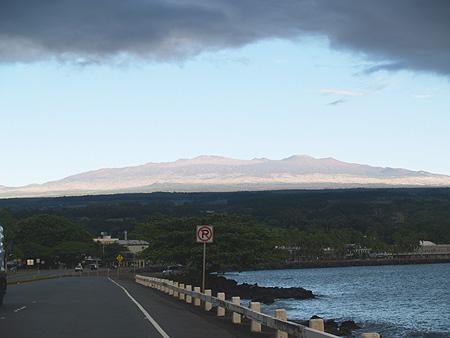 Mauna Kea from Hilo Bayfront drive